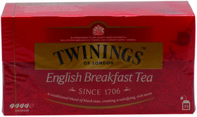 Twinings English Breakfast Tea, 25 Tea Bags - 50g (25x2g)