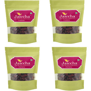 Jaiccha Dehydrated Dried Cranberries 800 gms in Green Paper Pouch