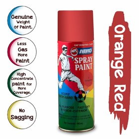 ABRO ORANGE RED SPRAY PAINT PACK OF 1