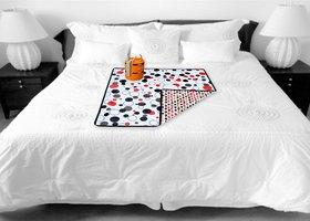 COLORFUL PRINTED REVERSABLE WATERPROOF PVC MULTIPURPOSE MAT  BED FOOD SERVER MAT(36x36 INCH)