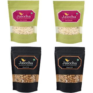 Jaiccha Namkeen Snacks-Pack of 4 Diet Chiwda and Wheat Puffs Pouches