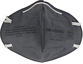 3M 9000ING Flu Mask - Black, mask for coronavirus - pack of 3