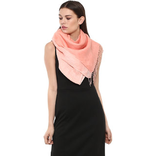 Rhe-Ana Lucy Stole/Scarf 100 Linen Shaded Peach
