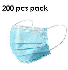 Svaar 3ply Disposable Mask Mouth Face Mask Dust-Proof Personal Protection (200 Pcs)