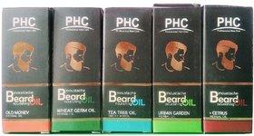 Herbal Beard Oil with Sunflower Nourishing Oil - Set of 5 Flavors X 60ml Each