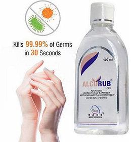 Alcorub Hand Sanitizer 100Ml - Pack of 10