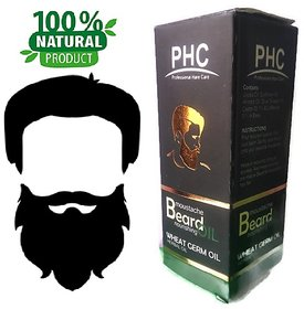 Natural  Herbal Beard  Moustache Oil - 60mL - Wheat Germ Flavor - Big Pack