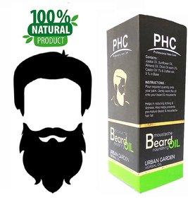 Natural  Herbal Beard  Moustache Oil - 60mL - Urban Garden Flavor - Big Pack