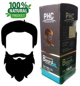 Natural  Herbal Beard  Moustache Oil - 60mL - Tea Tree Flavor - Big Pack
