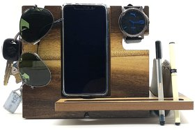 VAH Wooden all Type of mobile Docking Station, Fathers Day Gifts, Graduation Gifts For Him, Gifts For Dad, , Works With