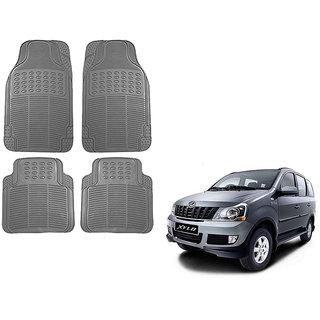 Auto Addict Car Simple Rubber Grey Mats Set of 4Pcs For Mahindra Xylo