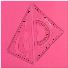 Set Squares Drafting Engineering, Architecture Rulers Combination of 10and12 Professional Triangles Made Clear Plastic
