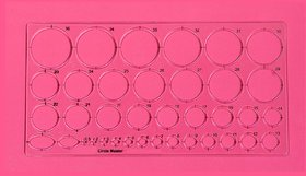 Vardhman Circle Master Template Drafting Engineering, Architecture Rulers, 35 Circles, 2 Oval