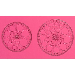 Vardhman Pro Circle Protractor Set,Pack of 2 pcs with 25  18 Circle Drafting Engineering, Architecture Rulers