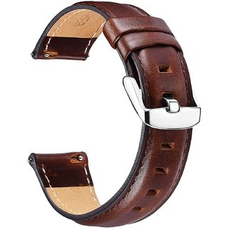 House of Quirk 20mm Quick Release Leather Watch Bands for Gear S3, Universal Adjustable Sport Strap for Amazfit/Pebble/H