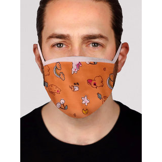 Stylish Printed Face Mask for Men - Design 7