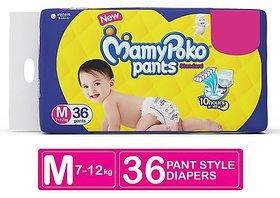 Mamy Poko Pants Standard Diapers, Medium (Pack of 36)