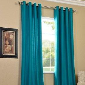 Premium Quality Polyster Plain Window Curtains Set of 2 Pieces (4X5)