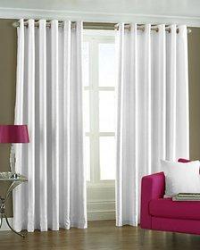 Premium Quality Polyster Plain Door Curtains Set of 2 Pieces (4X7)