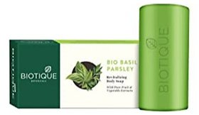 Biotique Basil And Parsley Revitalizing Body Soap, 150G