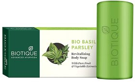 Biotique Basil And Parsley Revitalizing Body Soap 150g