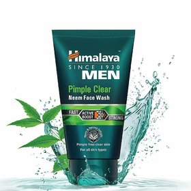 Himalaya Men Pimple Clear Neem Face Wash, 100Ml