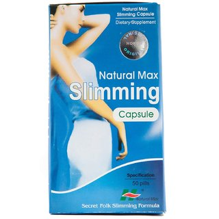 Natural Max Slimming Capsule Dietary Supplement - 50 Pills