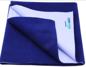 HomeStore-YEP Waterproof Baby Bed Protector Dry Sheet for New Born Babies, Size - Medium 100cm X 70cm Color Dark Blue