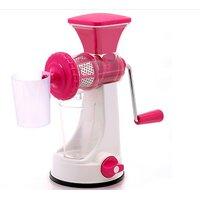 Fruit  Vegetable Manual Juicer Mixer Grinder With Steel Handle Polypropylene Hand