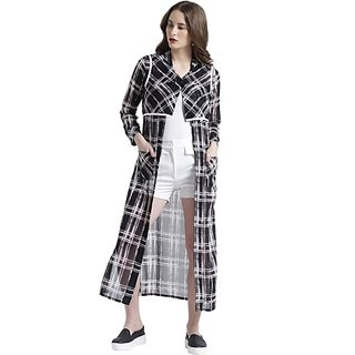 Texco Grey Georgette Shrug For Women