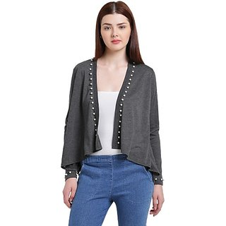 Texco Grey Poly Cotton Shrug For Women