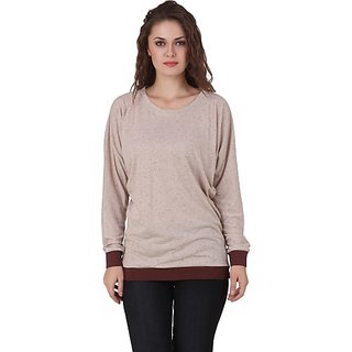 Texco Casual Full Sleeve Solid Women Brown Top