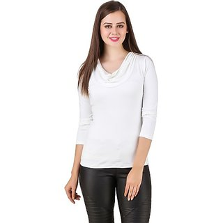 Texco Party Full Sleeve Solid Women White Top