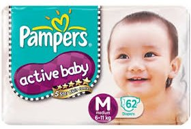 Pampers Active Baby M-62