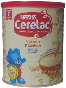 Nestle Cerelac 5 Cereals With Milk - 400g (Imported)