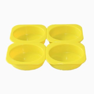 Vardhman 4-Cavity Oval Shape Soap Moulds Cake Pan Muffin Cups Handmade Baking Moulds,