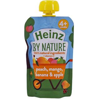 Heinz By Nature Peach Mango Banana  Apple Puree - 100g