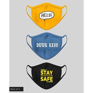 Pack of 3 Gen-Z Designer printed Stylish protection masks