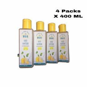 (COMBO PACK OF 4 ) Hand Sanitizer - Alcohol Base Lemon Sanitizers - 100 ml each