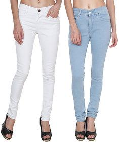 Hootry Women's Slim Fit Multi Jeans