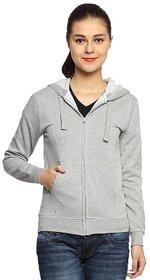 Hootry Women's Regular Fit Grey hooded