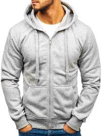 Hootry Men's Regular Fit Grey Hooded