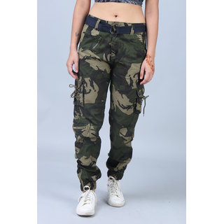 Hoootry Women's Slim Fit Multicolor Cargo