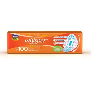 Whisper Choice Wings, 7 Pads per Pack (Pack of 12)