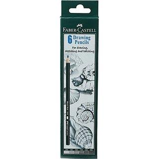 Faber-Castell Graphite 1 Each (2B, 3B, 4B, 5B, 6B, 8B) Pencil (Pack Of 6)