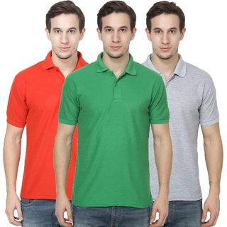 Hootry Men's Regular Fit Multi T-shirts