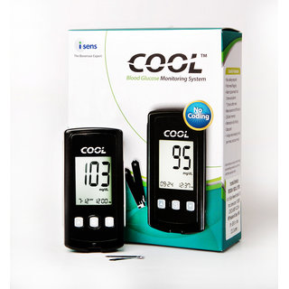 i-Sens Cool Glucometer With 10 Blood Glucose Test Strips