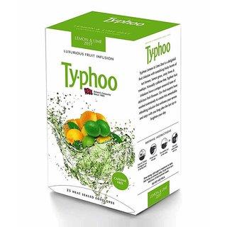 Typhoo Luxurious Fruit Zest Lemon, Lime Infusion Tea Bags Box 25 Unit