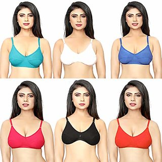 Perfect Full Coverage Non-Padded Daily Use Bra Pack of 6 Pcs