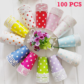 Disposable Glass 100Pcs Set